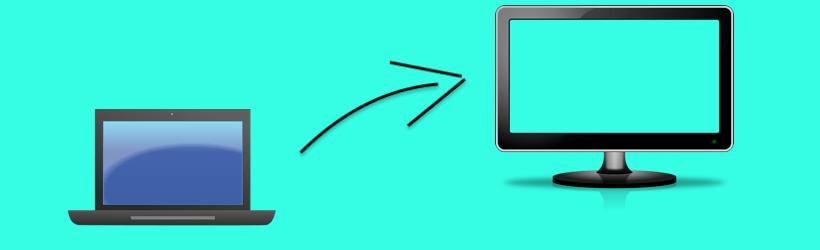 Laptop op tv