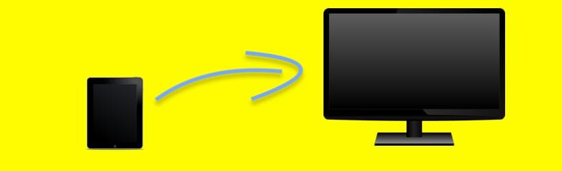 iPad op tv