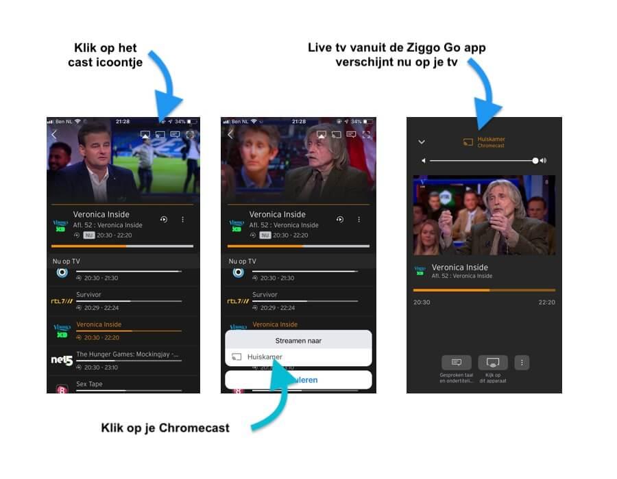 tv kijken met Chromecast