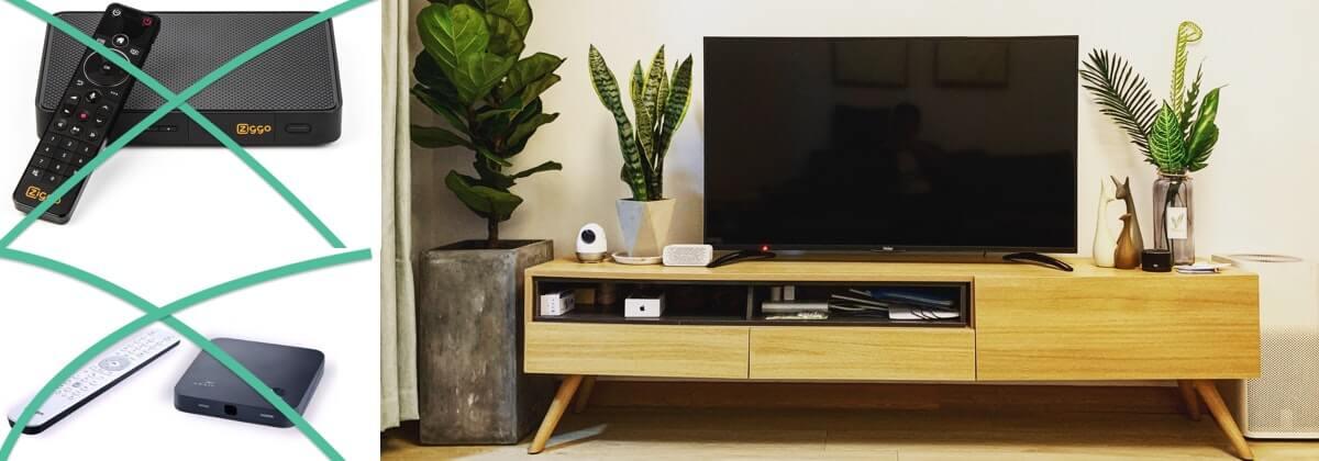 Tv kijken zonder kastje